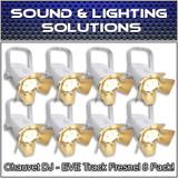 (8) Chauvet DJ EVE TF-20 LED Par Wash Stage Light Fresnel Fixture - White