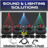 (4) Chauvet DJ Intimidator Beam 140SR Cutting-Edge Moving Head Package