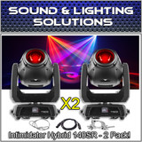 (2) Chauvet DJ Intimidator Hybrid 140SR Beam, Spot & Wash Moving Head Package