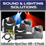 (2) Chauvet DJ Intimidator Spot Duo 155 Dual Compact LED Moving Head Package