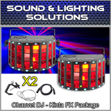 (2) Chauvet DJ Kinta FX - LED Derby, Effect Laser, SMD Strobe Lighting Effect Pkg