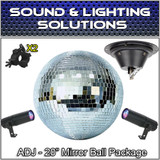 "ADJ American DJ 20"" Mirror Disco Ball, Remote Pinspot LED, Motor & Clamp Package"
