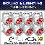 Chauvet DJ (8) SlimPar Pro H USB Slimpar Pro H Hex RGBAW+UV LED (White Housing)