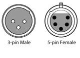 5-Pin F to 3-Pin M