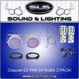 Chauvet DJ EZ Par 64 RGBA 2 Pack White + Extras!
