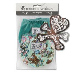 tokidoki x Kanga Care Rumparooz - TokiTreats & peacock - doll diapers