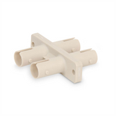 Fiber coupler, duplex ST, multimode.  Plastic