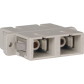 Fiber Coupler SC/SC Duplex,Single/Multi Mode,Zirconia,White