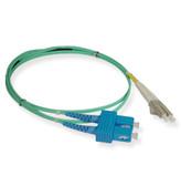 Fiber 10G aqua 50/125 LC/SC Duplex 1m (3.28 feet), ICC