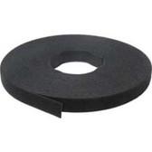 """Velcro, 1"""" Wide x75'(25 Yard = 22.9 Meter)Lineal Puck, Black"""