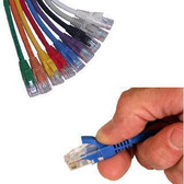 UTP 75' Blue Patch Cable With Flexible Boots CAT5e 568B