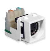 SVHS Connector with IDC Termination, for wallplate, White