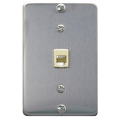 Wall Mount Telephone Single Jack Wall Plates Stainless Steel