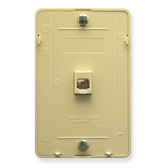 Wall Mount Single Jack 6c Telephone Wall Plate