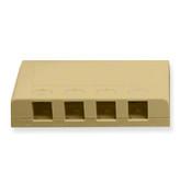 Surface Mount Box 4 Hole Ivory (Elite style)