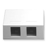 Surface Mount Box 2 Hole White ICC