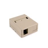 Surface Mount Box, Hellermann Tyton 2 Port Ivory, SMBDUAl-I