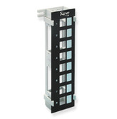 Blank Patch Panel 8 Port Vertical, w/ Wall Mounting Bracket
