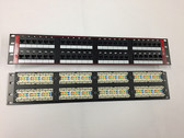 Patch Panel CAT6 48 Port 110 Type to RJ45 568A/B Univ. RM.