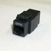 Coupler CAT5E RJ45 Keystone Type, Black