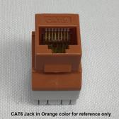 Jack CAT6 Red RJ45 8P8C Connex, 180 Degree