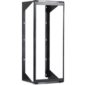 "Swing-Out Wall Mount Rack 19"" W x 48.4"" H x 18"" D Black, 25U ICC"
