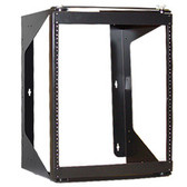 "Swing-Out Wall Mount Rack 19"" W x 25.6"" H x 18"" D Black, 12U ICC"