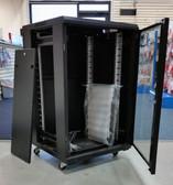 """Floor Cabinet 18U A2 Cabinet, Black, 24""""Wx24""""Dx40""""H (600*600*18U)/Fan Tray"""
