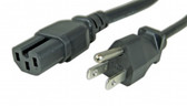 Power Cord 6' NEMA 5-15P to IEC 60320-C15 15A/125V 14 AWG, (Power Cord 6' NEMA 5-15P to IEC 60320-C15 15A/125V 14 AWG, (same pinout of Cisco Powercord PN CAB-9K12A-NA)