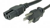 Power Cord 8' NEMA 5-15P to IEC 60320-C15 15A/125V 14 AWG, (Cisco Powercord PN CAB-9K12A-NA)