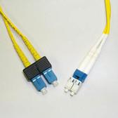 1M LC to SC Duplex 2.0mm, 1 Meter PVC(OFNR) 9/125 Single Mode Fiber Patch Cable