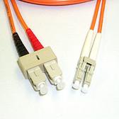 Fiber 50/125 LC/SC Multimode Duplex, 2mm, 1 Meter