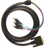 HDTV Cable DVI-I (analog) to 3RCA Male, (Y/Pb/Pr) 6'