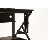 Adjustable Desktop CPU Bracket Under Desk 60 lbs. Rating