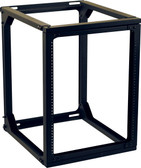 "Wall Mount Rack 23.7""Dx21.1""Wx27.5""H Black 13U, Swing Gate"