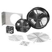 "FAN for Cabinet 4.69""x1.52""D Square 85 CFM BK, w/Power Cord"