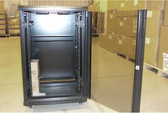 "Cabinet 18U A2 Cabinet, Black, 24""Wx24""Dx40""H w/Fan Tray"