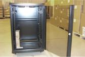 """Cabinet 18U A2 Cabinet, Black, 24""""Wx24""""Dx40""""H w/Fan Tray"""