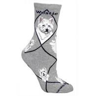 Westie Socks Grey