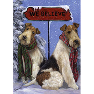 Wire Fox Terrier Greeting Cards Believe