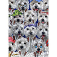 Westie The Many Faces of Westies Garden Flag