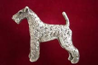 Airedale Terrier Pewter Pin