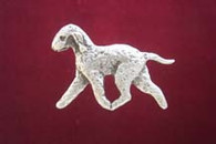 Bedlington Terrier Pewter Pin - Trotting
