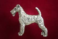Irish Terrier Pewter Pin