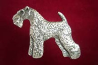 Kerry Blue Terrier Pewter Pin