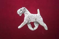 Lakeland Terrier Pewter Pin - Trotting