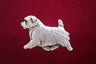 Norfolk Terrier Pewter Pin - Trotting