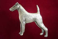 Smooth Fox Terrier Pewter Pin