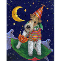 Wire Fox Terrier Halloween Flag