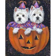 Westie Halloween Cards